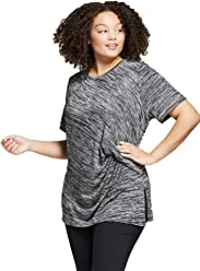 b258aa659e7fc4 Ava & Viv Women's Plus Size Ruched Short Sleeve T-Shirt -