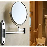 Malayas 8 Inches 10X Magnifying Makeup Mirror Bathroom Wall Mounted Swivel Shaving Cosmetic Mirror Round Vanity Mirror