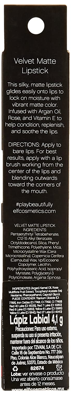 Amazon.com: e.l.f. Velvet Matte Lipstick 82674 Bold Berry: Health & Personal Care