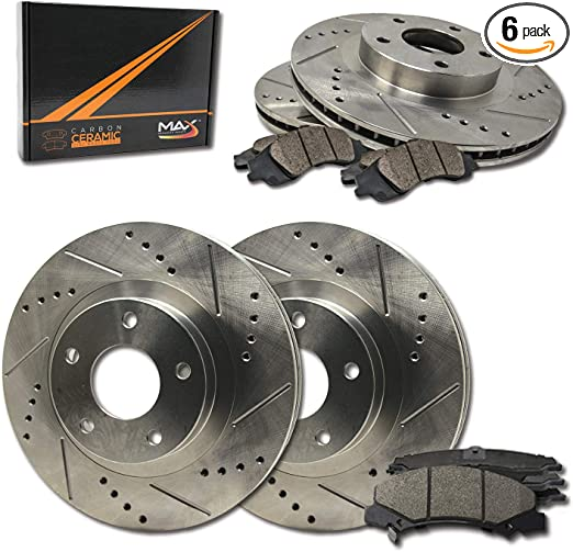 KT095642 Fits 2006-2009 Hyundai Azera Max Brakes Rear Premium Brake Kit OE Series Rotors + Ceramic Pads
