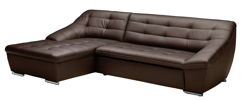 polsterecke lucas longchair 3er 165x81x287 cm leder punch mocca poroflex softy mocca g nstig kaufen. Black Bedroom Furniture Sets. Home Design Ideas