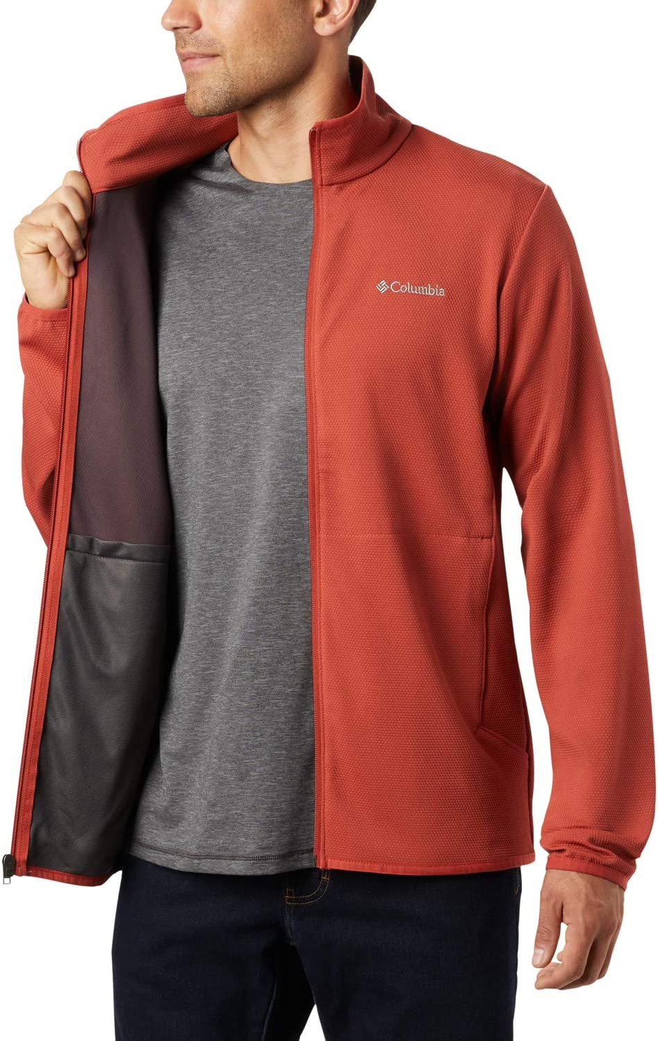 Mens Full-Zip Fleece Jacket Town Park Midlayer FZ