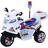 Homcom Moto Scooter électrique pour Enfants Modèle Policier Fonctions Sirène et gyrophare 14