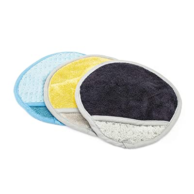 The Rag Company (3 Pack Smitten Dry Mitt + Glass Mitt + Interior Mitt Combo Professional Korean 70/30 Microfiber with Buttersoft Suede Edges: Automotive