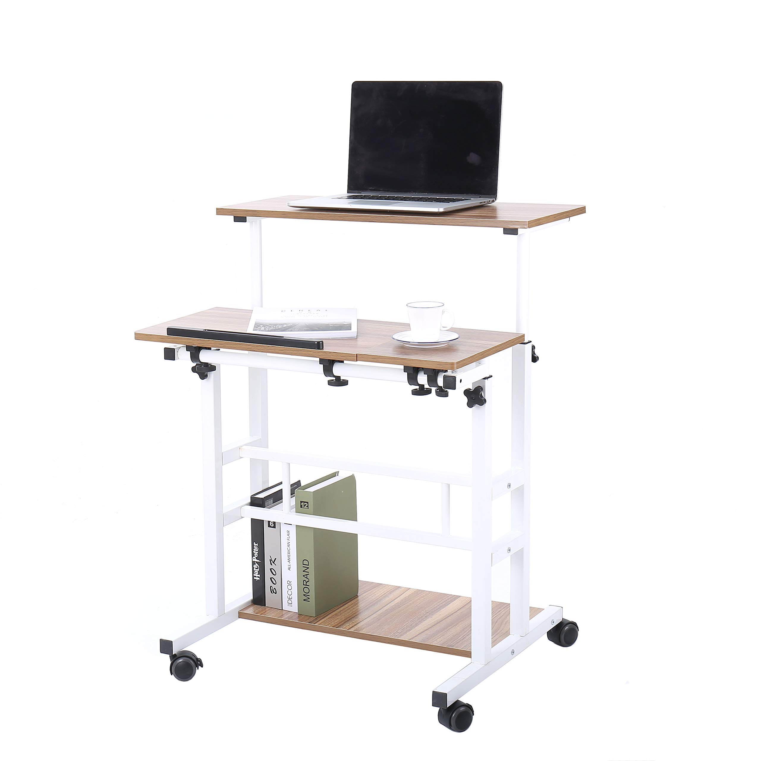 14a89e915852 UNICOO- Height Adjustable Sit Stand Workstation, Mobile Standing ...