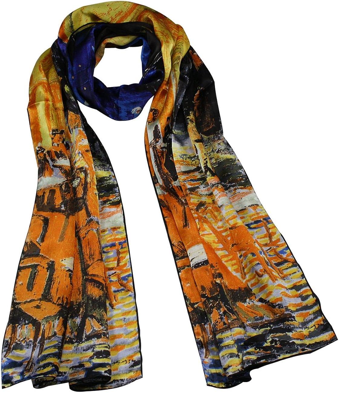 "Autumn Blossom Van Gogh Silk Cashmere Blend Scarf 52/"" x 47/"""