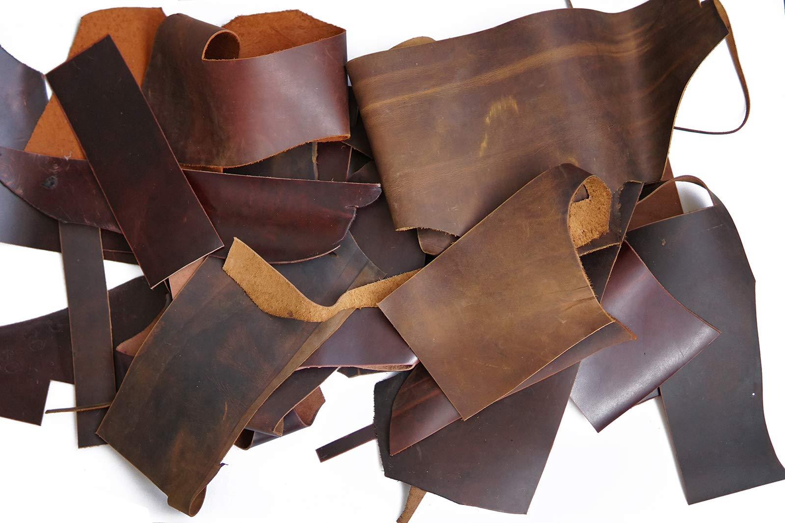 Leather Scrapes Usable Holster & Sheath - 1.4mm-2.0mm Leather Hide for Crafts/Tooling/Sewing/Handmade (1lb) by Jeereal