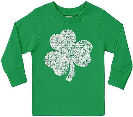 6a4977fb2 Amazon.com: Threadrock Little Boys' Distressed Shamrock Toddler Long Sleeve  T-Shirt: Clothing