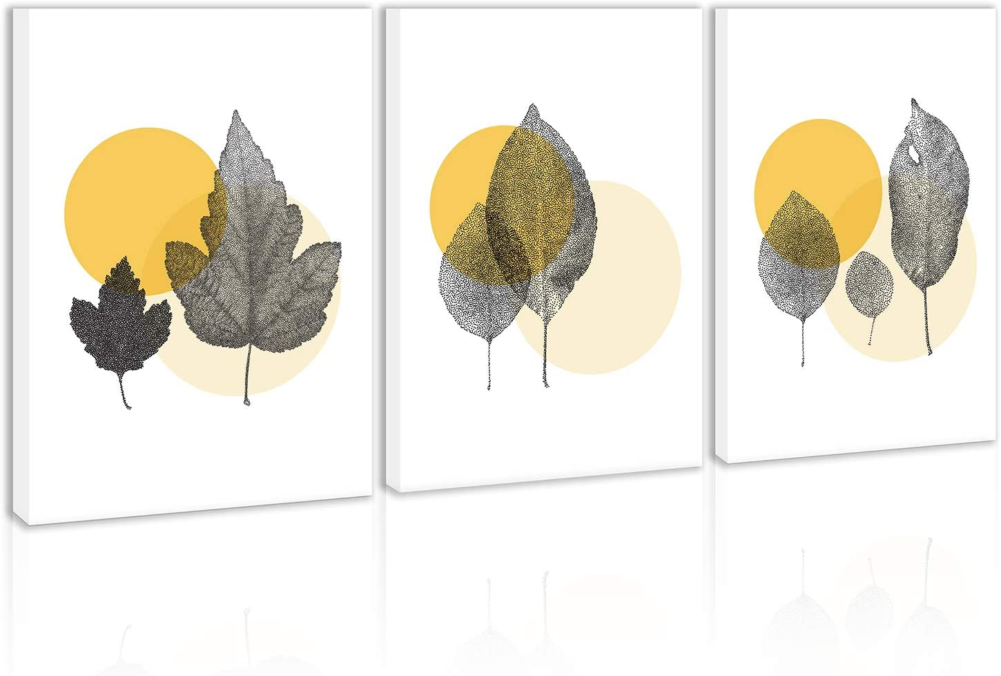 Tree Leaves Wall Art Decor White Background Modern Abstract Artwork Canvas Painting Prints Pictures Home Decor for Living Room Dining Room Bedroom