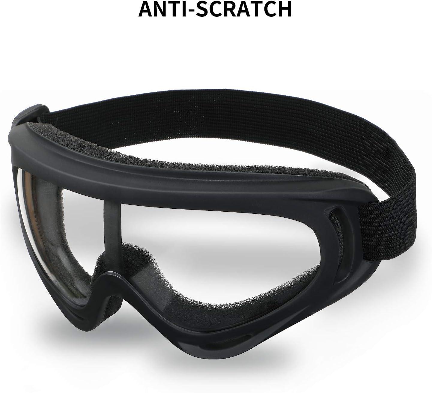 Babimax Gafas de Protección Anti-salpicaduras Amplio Campo de Visión con Banda Sellada de Silicona para Proteger Ojos(Negro)