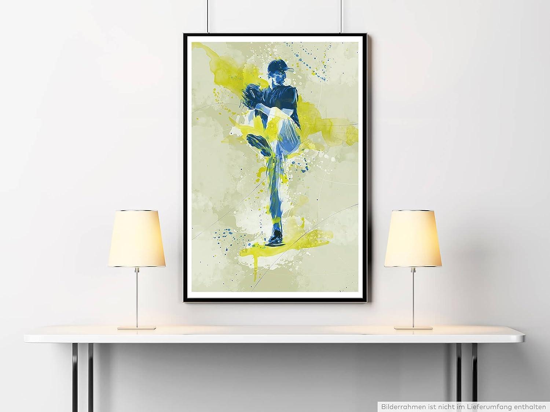Baseball I 90x60cm auf Masterclass Metallic Pearl High Gloss Photo ...