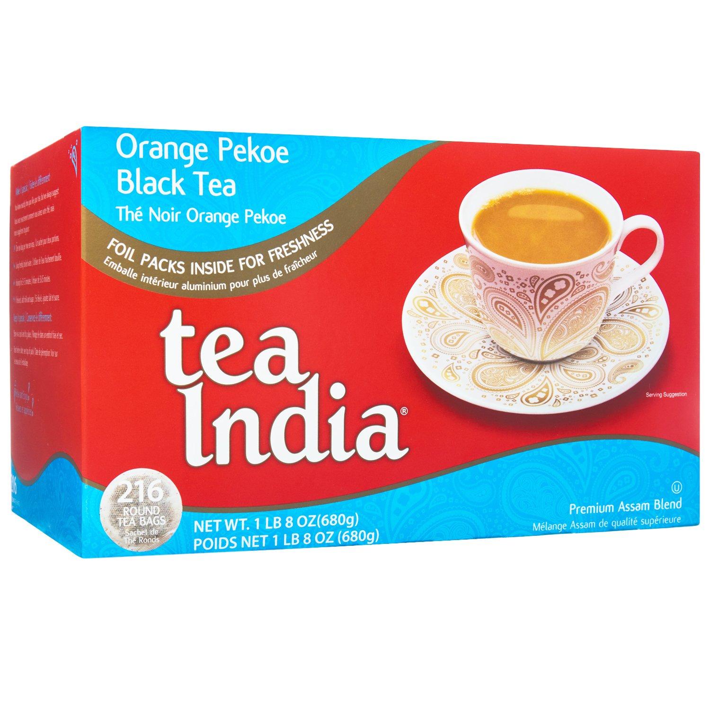 Tea India Assam Tea Blend, Orange Pekoe, 216 Round, 2-Cup Tea Bags, 24-Ounce Boxes (Pack of 2)