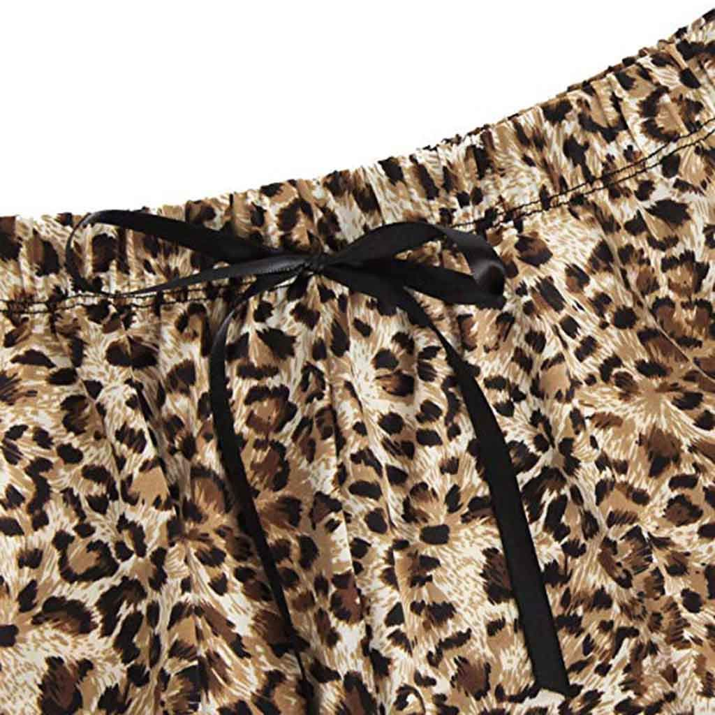 Jeramery Womens Sexy Linegrie for Sex Lace Leopard Print Pajama Panty Set Underwear Chemise Sleepwear Nightgown Gold by Jeramery Lingerie (Image #3)