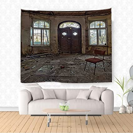 Amazon Com Nalahome Building Decor Abandoned House Room With Broken
