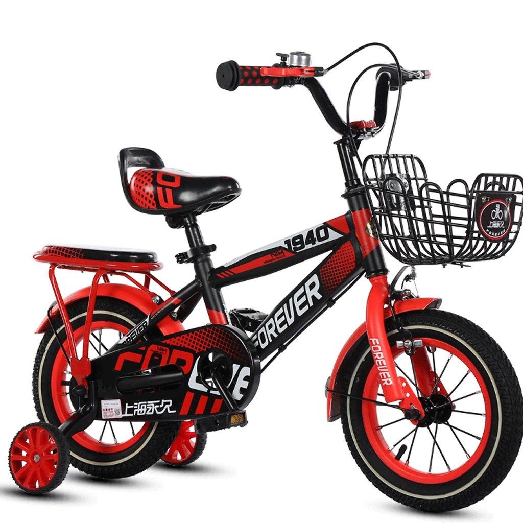 子供3-12歳の自転車の少年少年のベビーカーの子供ペダルの自転車の子供屋外マウンテンバイク (色 : 赤, サイズ さいず : 12インチ) B07DBVV7RQ 12インチ|赤 赤 12インチ
