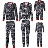Inlefen Pyjamas Christmas Family Matching Set Xmas Sleepwear Kids Baby Homewear