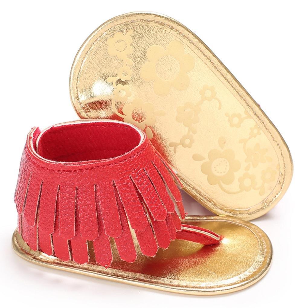 Color/é TM Chaussures B/éb/é Gland des PU Cuir Semelle Souple Sandales pour Nouveau N/ée Fille Gar/çons