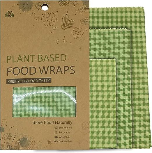 Envoltorios de cera reutilizables orgánicos hechos de cera de soja ...