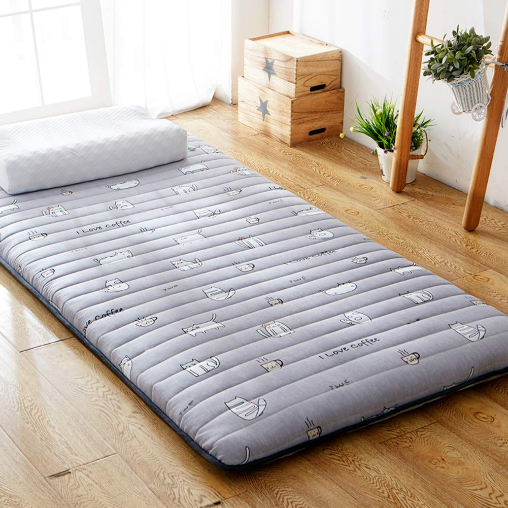A 90x195x5cm Portable Double Sided Mattress Topper,Foldable Futon Tatami Mattress Student Dormitory Mattress Soft Thick Hypoallergenic Sleeping pad-C 90x195x5cm