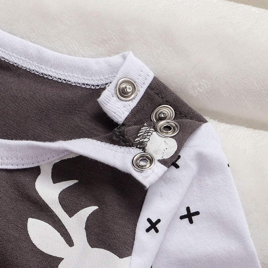 Newborn Infant Baby Boys Christamas Cartoon Deer Jumpsuit Romper Clothes huijdew 0-24 Months Kids Romper