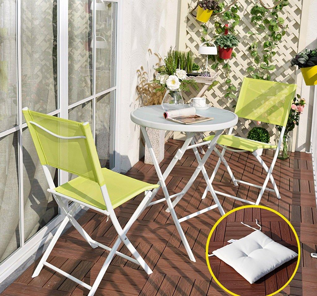 Gartenmöbel Sets Eisen Dreiteilige Tische Und Stühle / Outdoor Balkon  Klapptische Und Stühle / Freizeit Couchtische Und Stühle Kombination Tische  Stühle ...