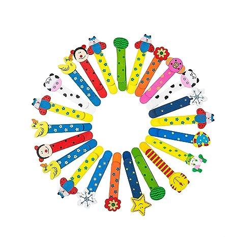 Animali Segnalibro Coloratissimi Segnalibro in Legno Carini Divertenti in Regalino Gadget per Bambini Ragazze Ragazzi Studenti 30 Pcs