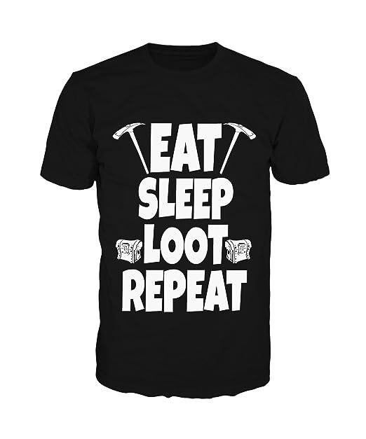Pevita Camiseta - Fortnite. Eat Sleep Loot Repeat (XL)