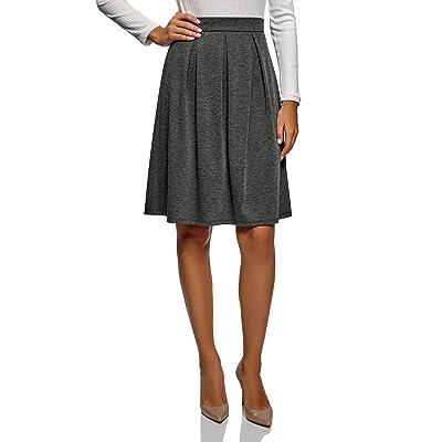 oodji Ultra Mujer Falda Acampanada de Longitud Midi: Ropa y accesorios