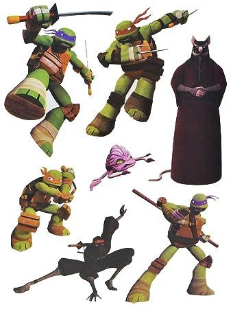 7 tlg. Set Fensterbilder - Teenage Mutant Ninja Hero Turtles ...