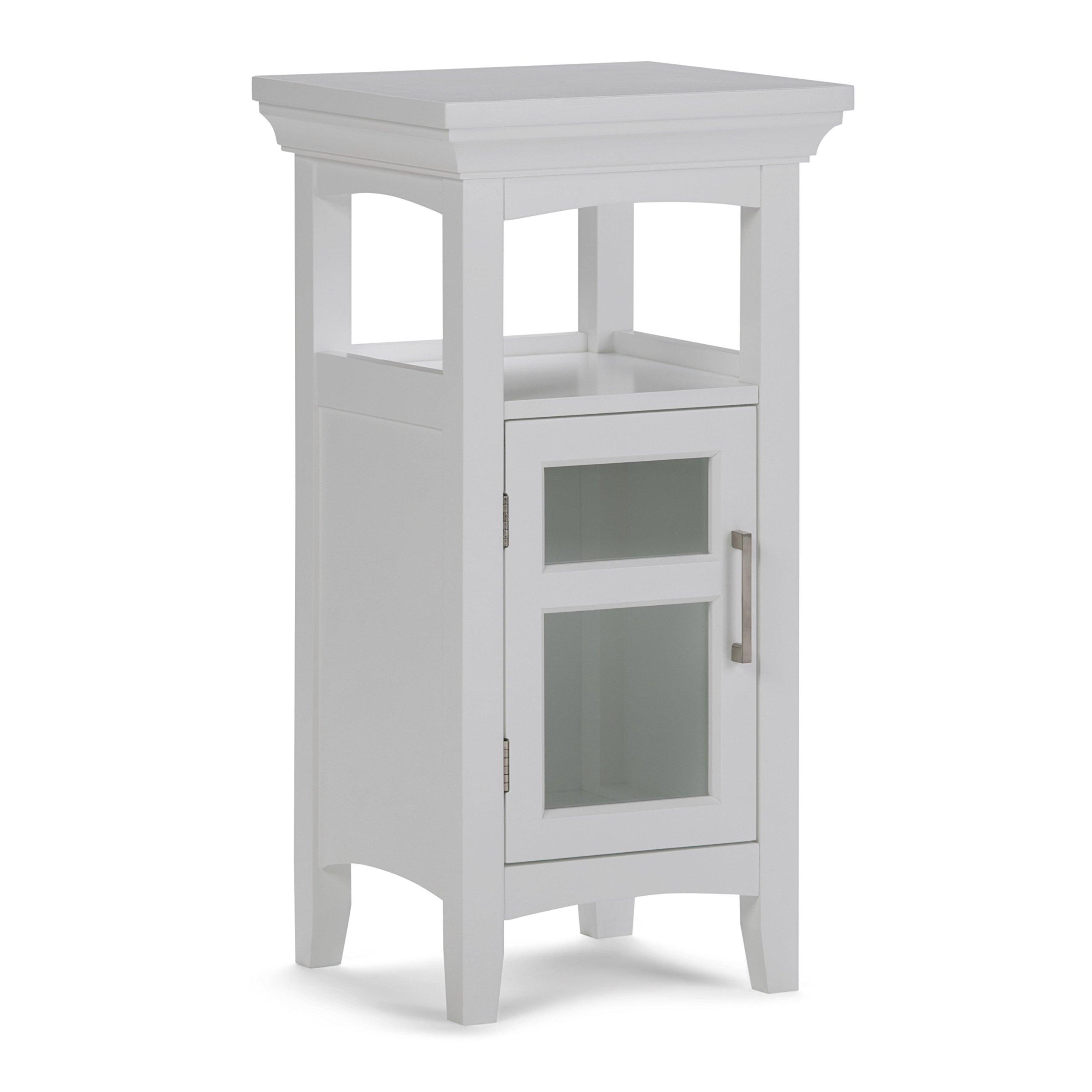 Simpli Home Avington Floor Storage Cabinet, White