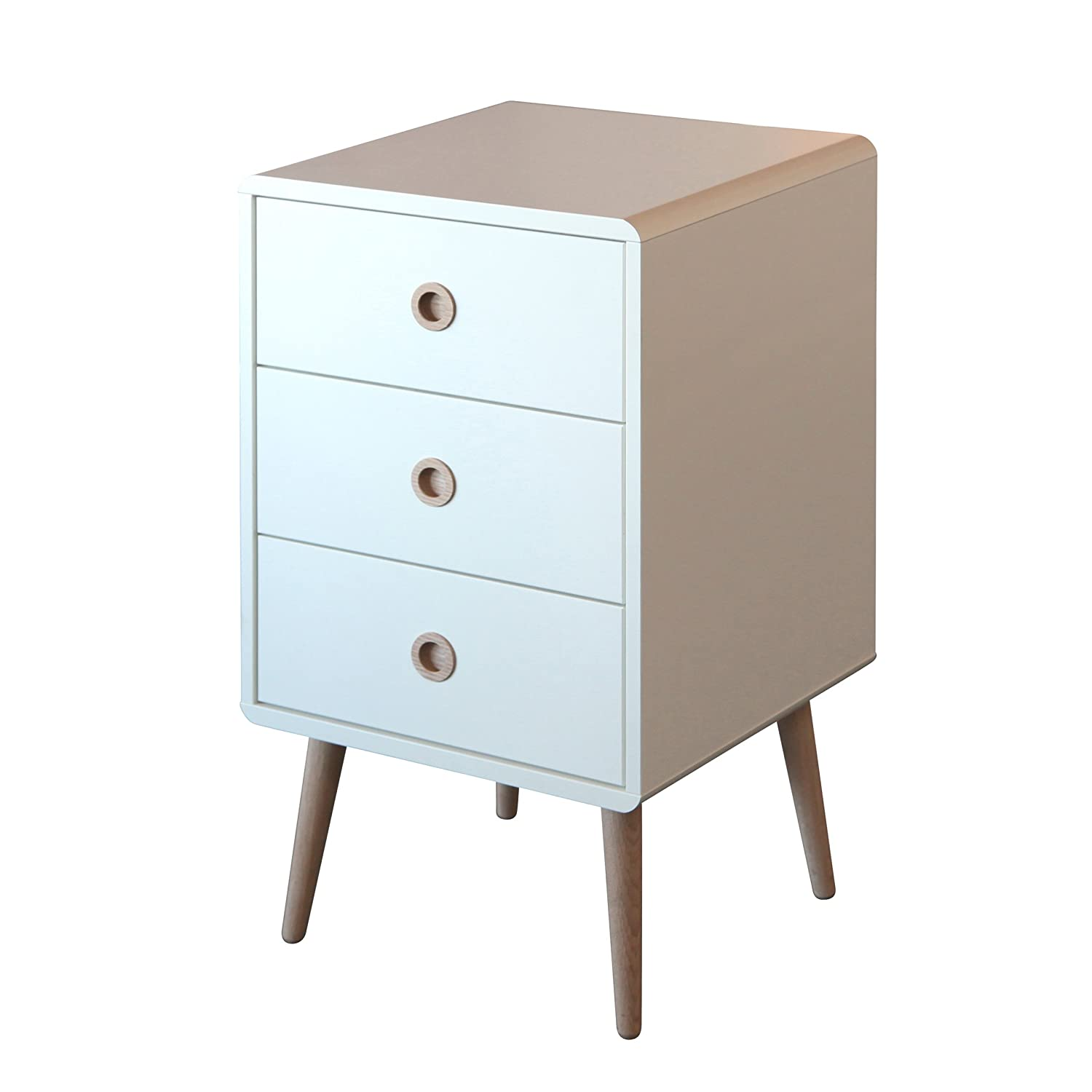 Steens Soft Line 3-Drawer Bedside, White: Amazon.co.uk: Kitchen & Home