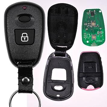 Mando a distancia por radio para el automóvil 1x carcasa de radio + 1x transmisor de 434 MHz + 1x pila para HYUNDAI