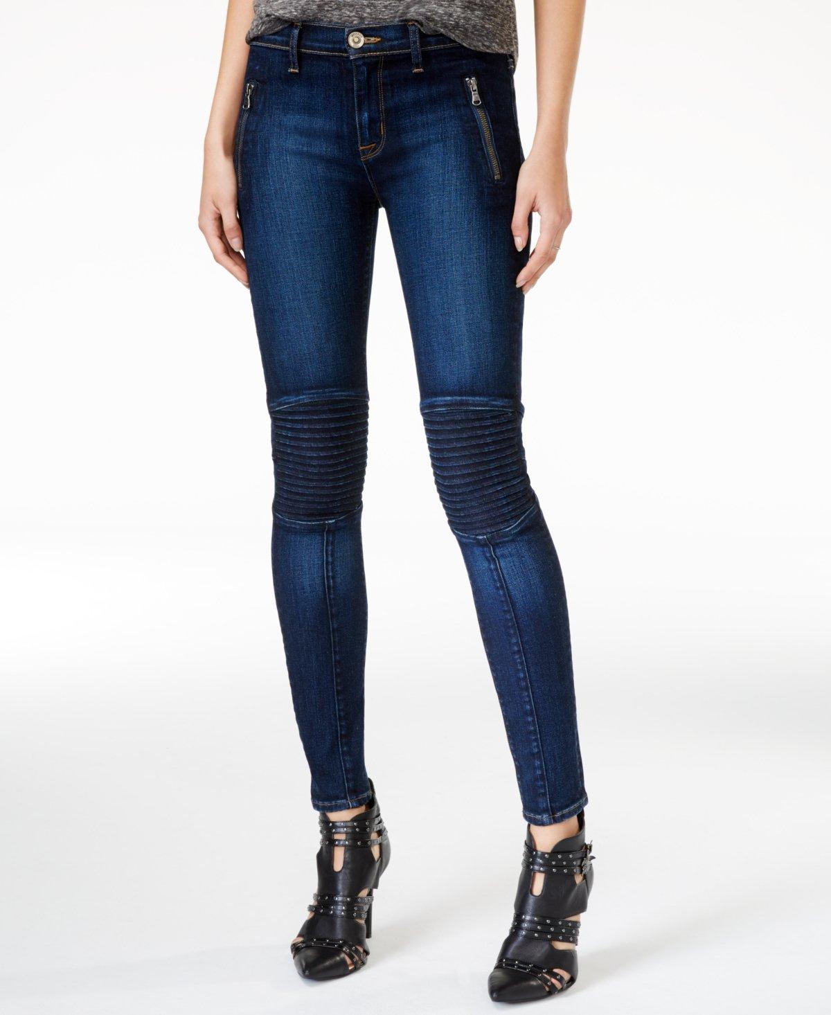 Hudson Jeans Women's 'Stark' Moto Skinny Jeans (26, Civilian Wash)