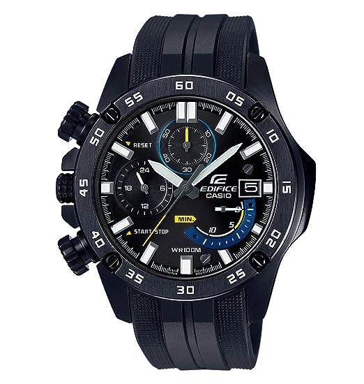 8853780a9c63 Casio Reloj Cronógrafo para Hombre de Cuarzo con Correa en Plástico EFR-558BP-1AVUEF   Amazon.es  Relojes