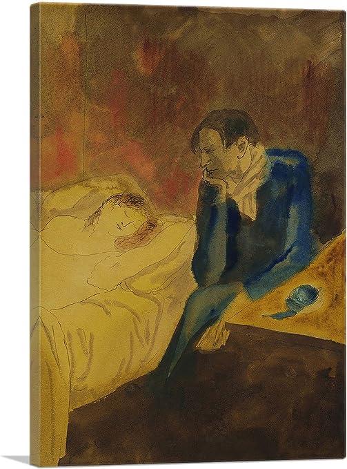 Amazon Com Artcanvas Meditation Contemplation 1904 Canvas Art Print By Pablo Picasso 18 X 12 1 50 Deep Posters Prints