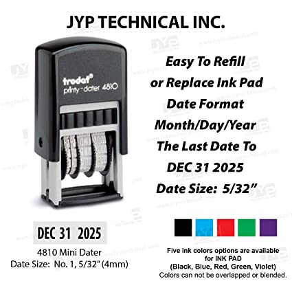 Amazon NEW Trodat Printy 4810 Self Inking Small Date Stamps