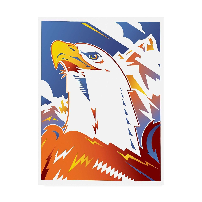 14x19 Trademark Fine Art Eagle bluee and orange