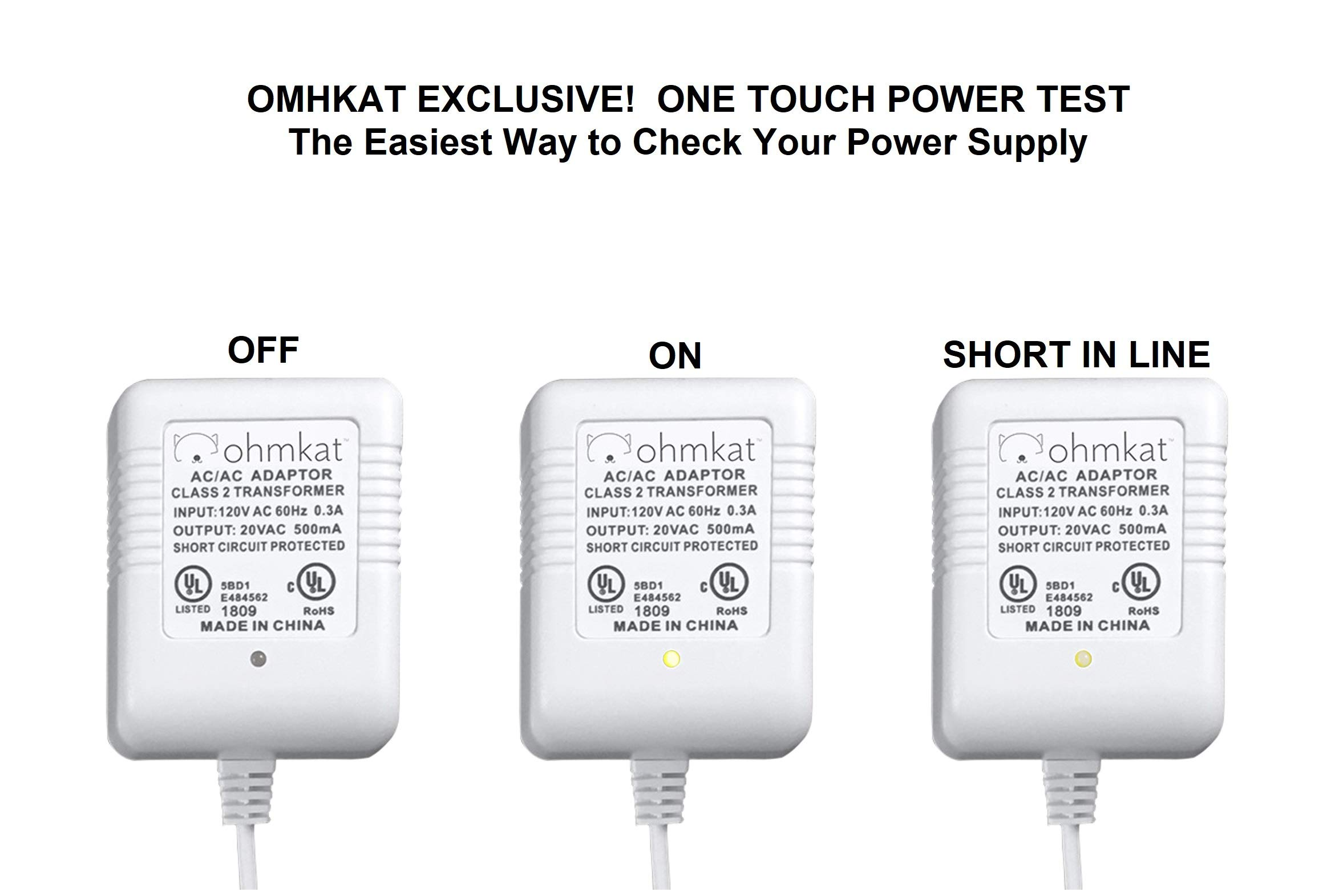 OhmKat Video Doorbell Power Supply- Compatible with Nest Hello - No Existing Wiring Required - Transformer, Adapter, Power Kit & Supply All In One (White) by OhmKat (Image #4)