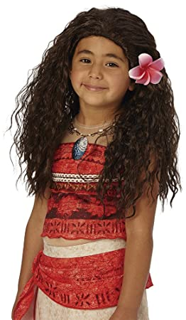 los angeles promo codes size 40 Rubie's-déguisement officiel - Disney- Perruque Vaiana - Taille Unique-  I-33699
