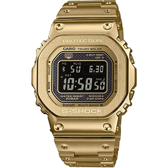 Casio Reloj Digital para Hombre de Cuarzo con Correa en Acero Inoxidable GMW-B5000GD-9ER: Amazon.es: Relojes