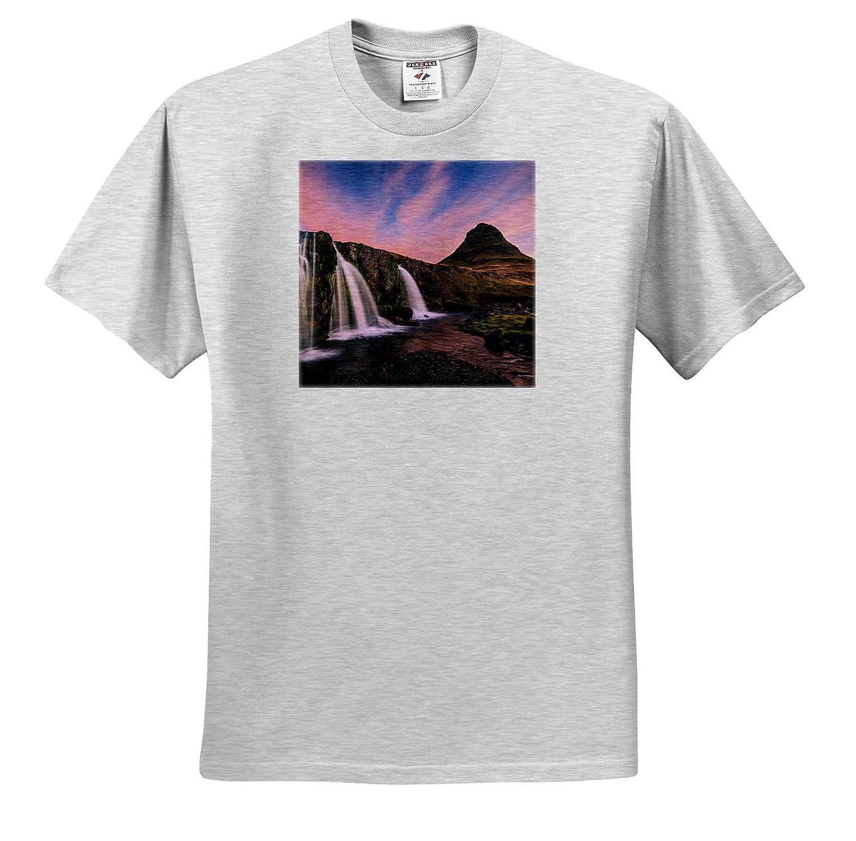 - Adult T-Shirt XL ts/_313630 Iceland Waterfall at Sunrise Iceland 3dRose Danita Delimont Kirkjufellsfoss