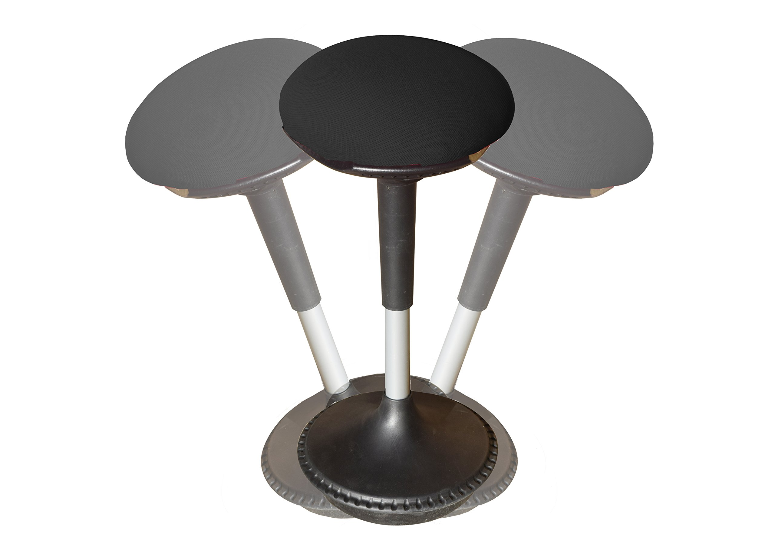 Wobble Stool Adjustable Height Active Sitting Balance Chair for Office Stand Up Desk. Best Tall Swivel Ergonomic Stability Perch Standing Desk Fabric
