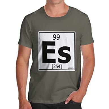 Twisted Envy Mens Periodic Table Element Es Einsteinium T Shirt