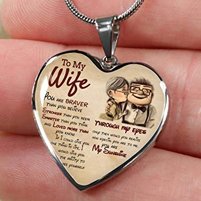 Amazon Com To My Wife Necklace Last Minute Birthday Gift Deep Love Messages For Wife Romantic Wife Gift Husband To Wife Necklace For My Wife Christmas Gifts Ideas For Women Men Luxury