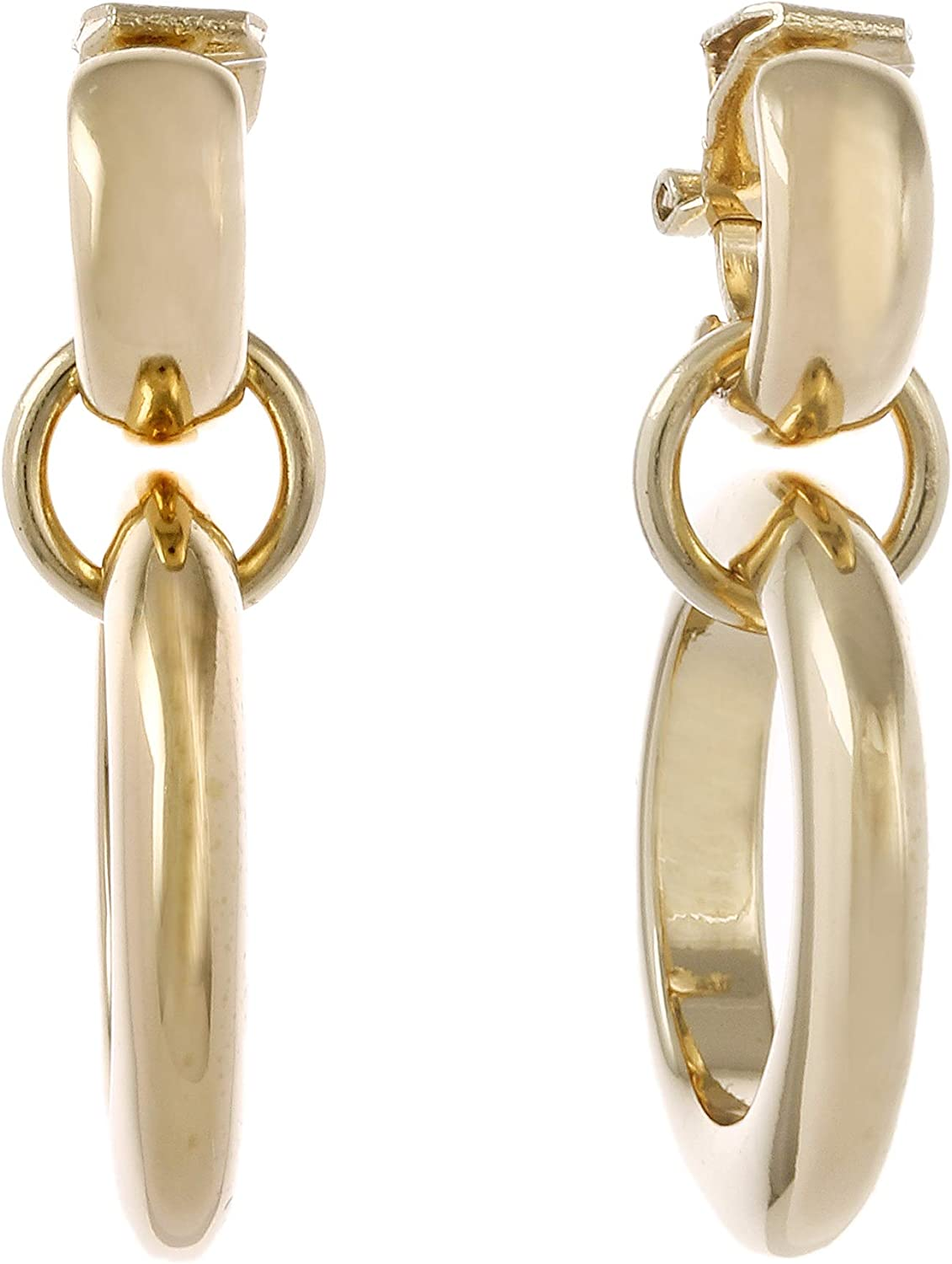 Laundry by Shelli Segal Double Metal Hoop Earrings