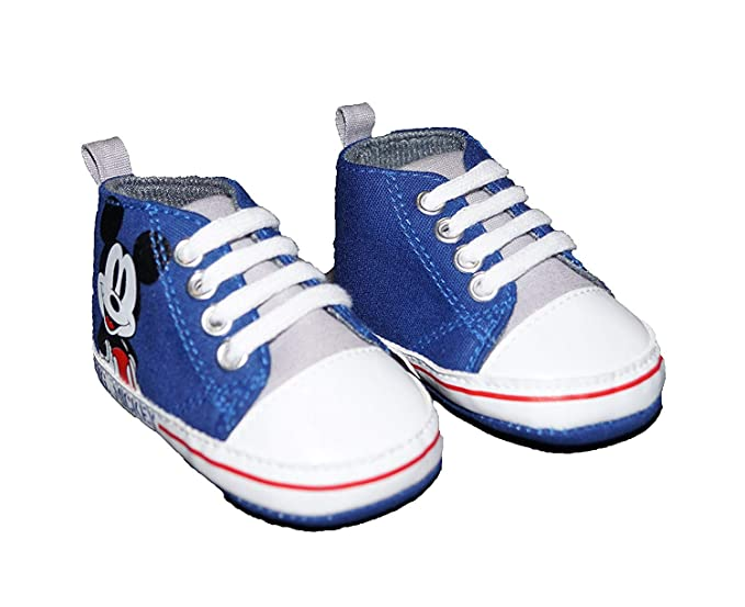 Amazon.com  Disney Mickey Mouse On Side Navy High-Top Baby Boy Shoes ... 9c92d9d0e50