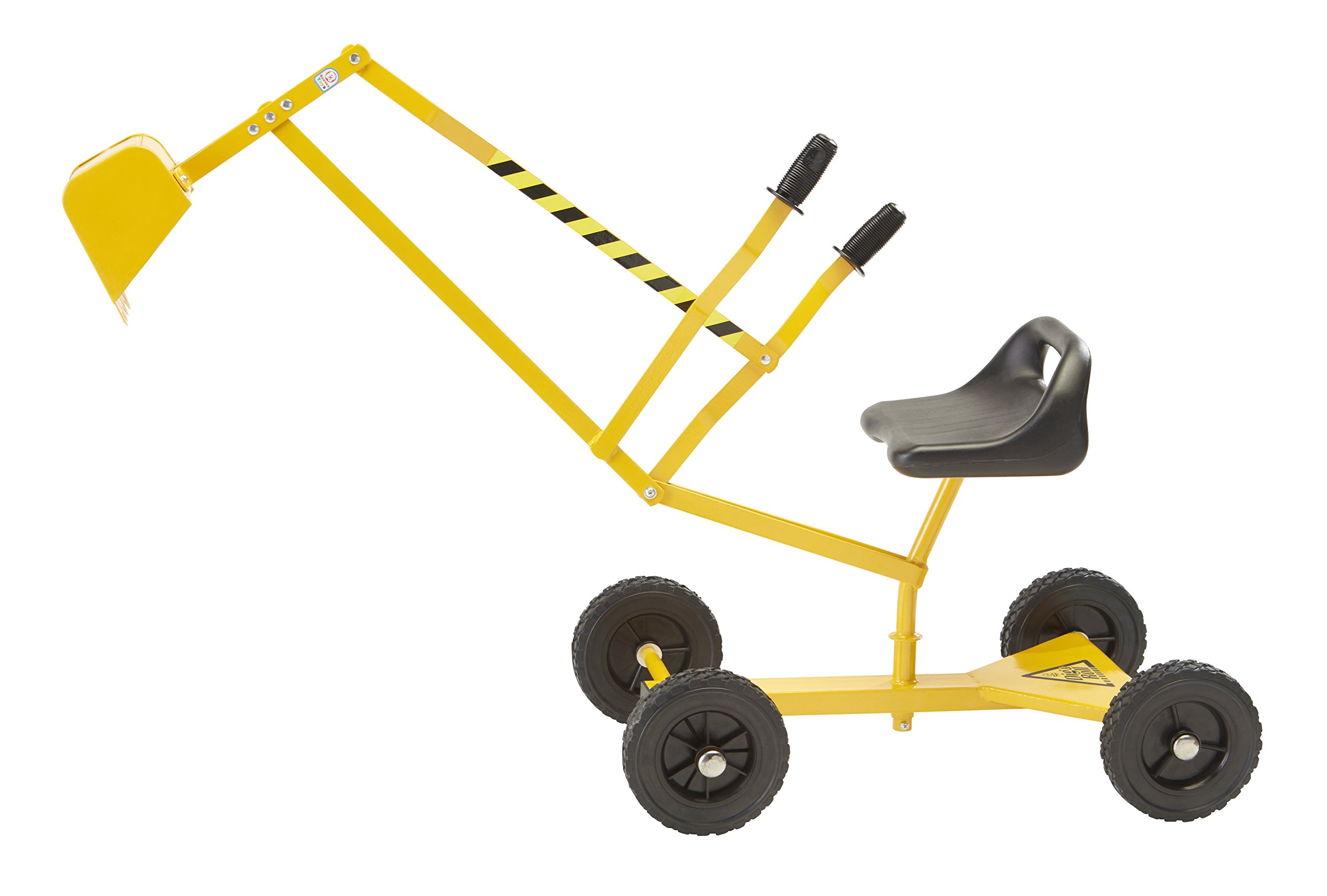 Reeves International The Big Dig and Roll Ride-On Working Excavator with Wheels, Excavator Crane with 360° Rotation, Great for Sand, Dirt and Snow, Steel Outdoor Play Toy by Reeves International