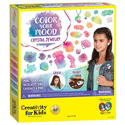 1a0e46708b44 Amazon.com  Creativity for Kids Color Your Mood Crystal Jewelry ...