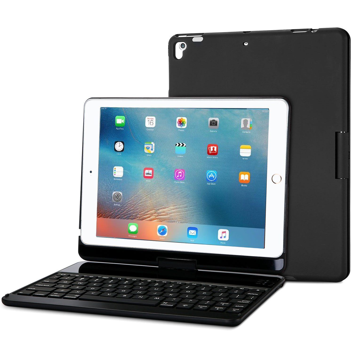 ProCase iPad 9.7 2018/2017 Keyboard Case - 360 Degree Rotation Swivel Cover Case with Wireless Keyboard for Apple iPad 9.7 Inch, Also Fit iPad Air 4328739461