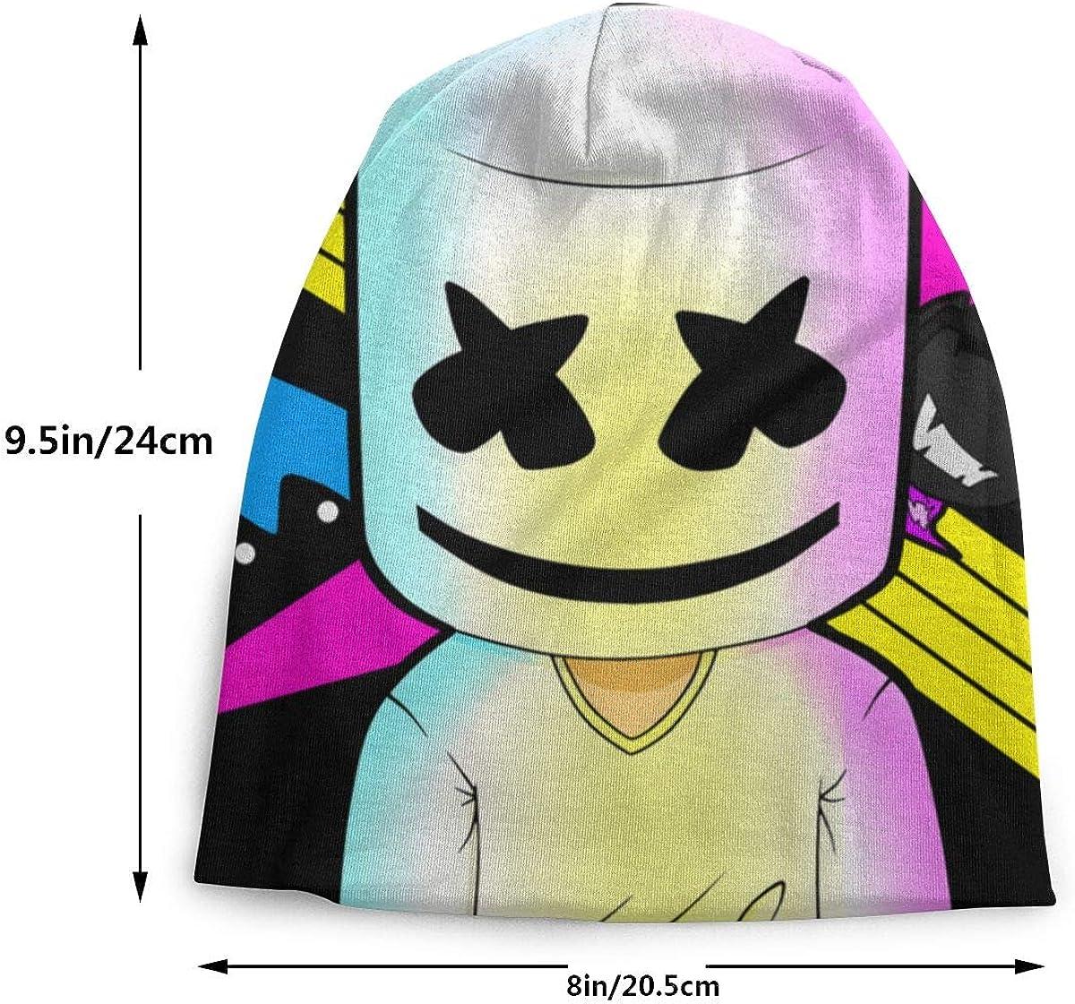 TROVL Marshmellow DJ-Smile Skullies Beanies Casual Bonnet Cap for Boys Girls 3-15 Years Kids